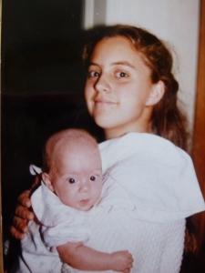 J holding K, 1992