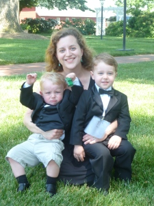 Me and the boys at wedding