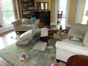 Family room mess