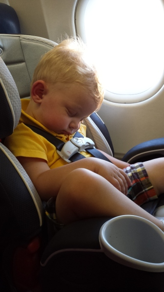 The last time I flew with a little one.