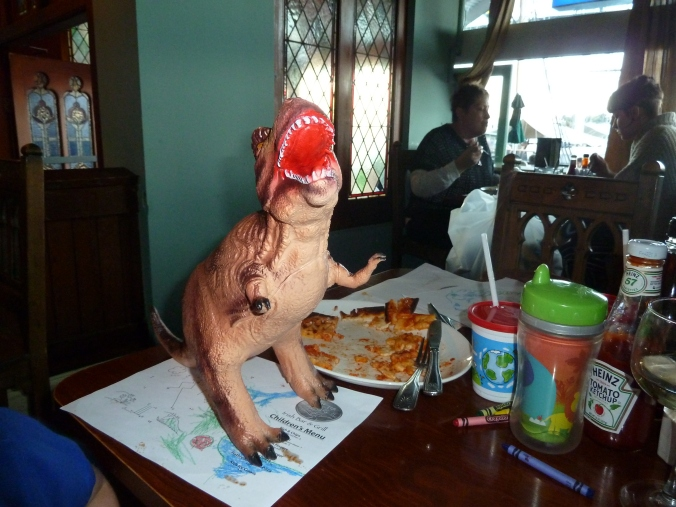T-Rex's like pizza.