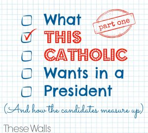 These Walls - What This Catholic Wants in a President Part One - 2