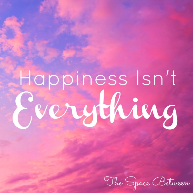 The Space Between - Happiness Isnt Everything